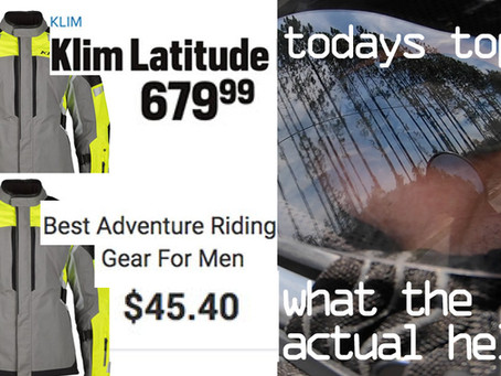 HOODWINKED! The Adventure Riding Gear Market: A LIAR is Among Us