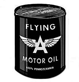 cartoon of old oil can