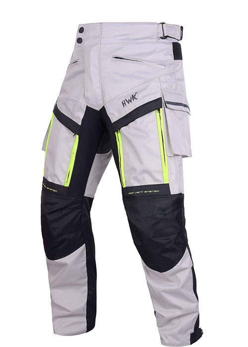 Front view of Cargo  HWK Motorcycle Riding pants recommended by Story Moto ADV