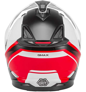 RED ACCENTED  GMAX GM-11D DUAL SPORT HELMET FOR  ADVENTURE RIDING AND MOTORCYCLE CAMPING