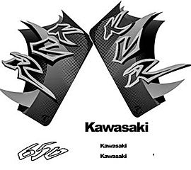 custom motorcycle graphics for Kawasaki KLR 650