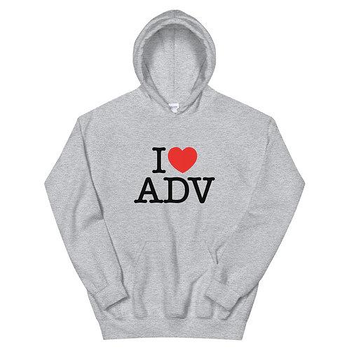 I HEART ADV    ∞    Unisex Hoodie