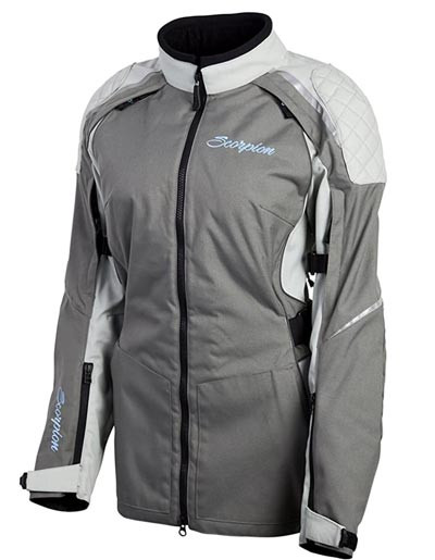 ScorpionEXO ZION Women's riding jacket in grey recommended by Story Moto ADV
