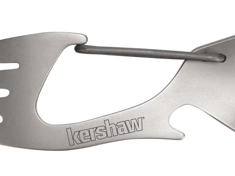 Kershaw camping spoon and fork that is also a carabiner