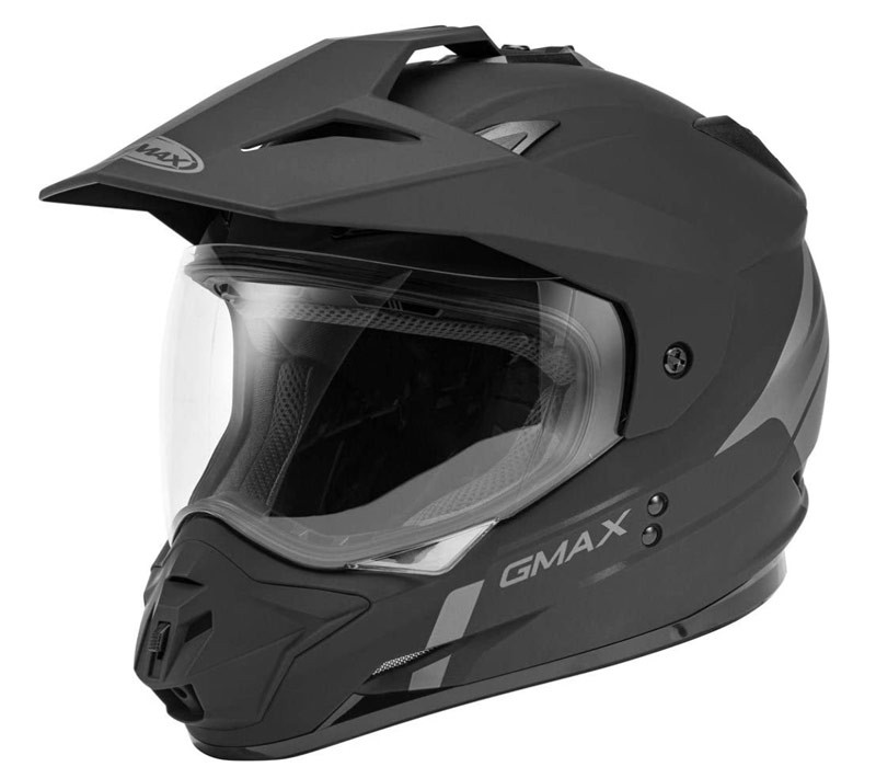 MATTE BLACK GMAX GM-11D DUAL SPORT HELMET FOR  ADVENTURE RIDING