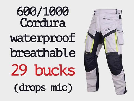 600D/1000D Cordura Adventure Riding Pants ≈ 29 Bucks... Somebody PINCH Me