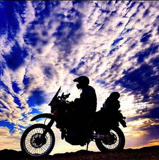 Hats Off to You Shot-Motorcycle silhouette-Story Moto ADV Internet Oddest Motorcycles
