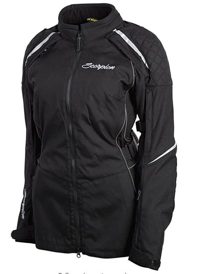 ScorpionEXO ZION Women's riding jacket in black recommended by Story Moto ADV