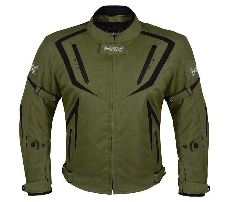 Dual Sport Jacket Front view of HWK Motorcycle Riding gear recommended by story Moto adv