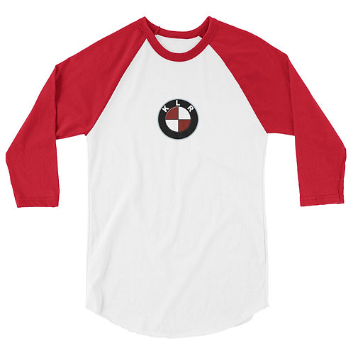 KLR...6TH GEAR THIS   ∞   3/4 sleeve raglan shirt