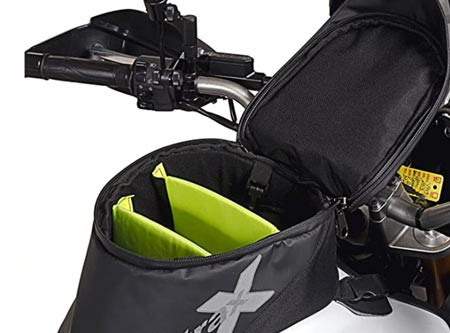 The Dowco Fastrax Xtreme tank bag used by Story Moto ADV when Motorcycle camping