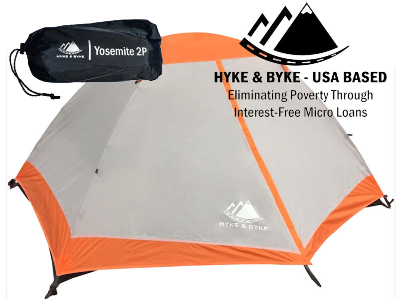 HYKE AND BYKE YOSEMITE TENT WITH FREE FOOTPRINT