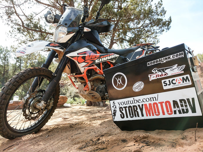 Story Moto ADV with TUSK Cases and KTM 690 Enduro R