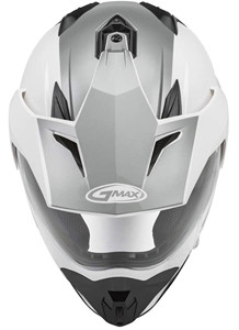 WHITE GMAX GM-11D DUAL SPORT HELMET FOR  ADVENTURE RIDING AND MOTORCYCLE CAMPING OFFROAD