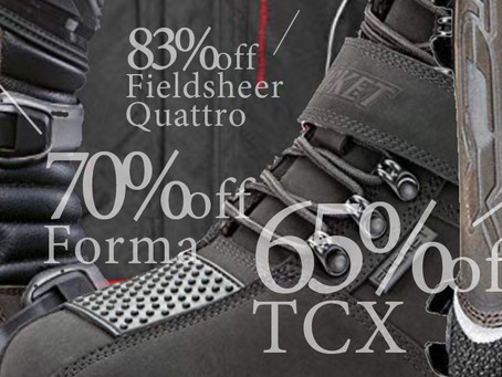 FORMA & TCX Boots + Fieldsheer Quattro Jackets At $$$TOOOOPID DEAL-NEW BATCH