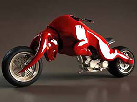 A Red Bull bull motorcycle
