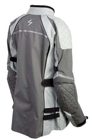 ScorpionEXO ZION Women's riding jacket in grey- back view-recommended by Story Moto ADV