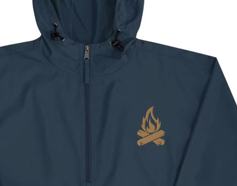 HEART OF FIRE    ∞    Embroidered Champion Packable Premium Jacket