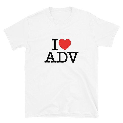 I HEART ADV    ∞    Unisex Short-Sleeve T