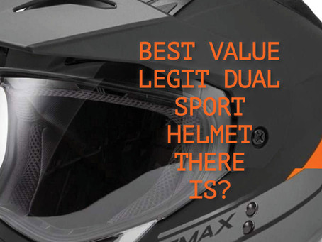 GMAX GM-11D: BEST VALUE Dual Sport Helmet~ A Case For A Lid