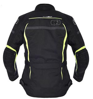 Oxford Dakota Women's riding jacket-neon green detail-as recommended by Story Moto ADV