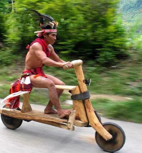 Paul Opp shares a photo of a homemade native motorcycle -ish. Story Moto ADV Odd and Awesome Moto photos