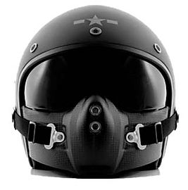 stylish, artistic well crafted black helmet