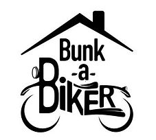 artistic logo of bunk-a-biker linked to them