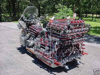 Honda Gold Wing covered in lights
