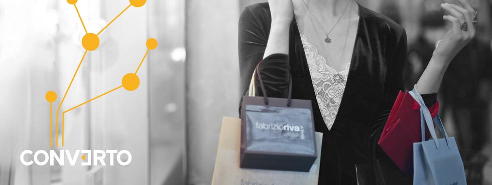 Blackfriday Frau mit Shopping Bag