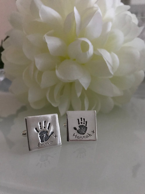 Medium Handprint Cufflinks