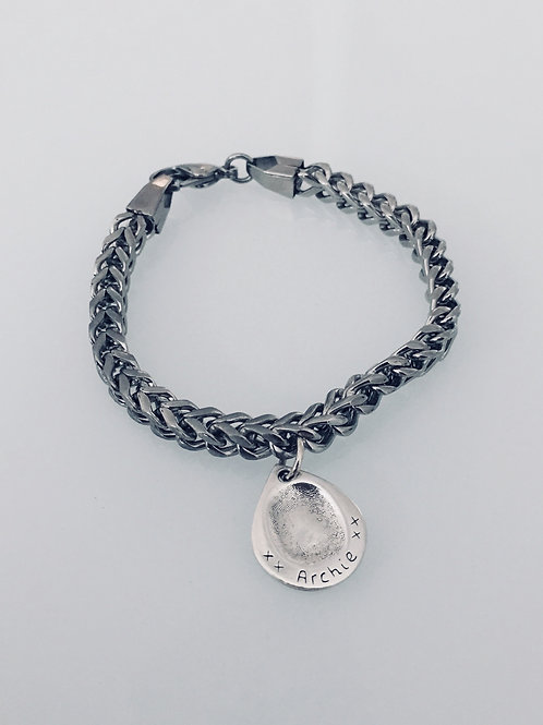 Fingerprint Men's Steel Bracelet