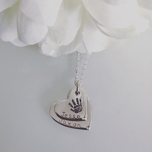 Descending Handprint Necklace
