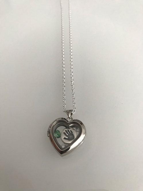 Floating Handprint Necklace