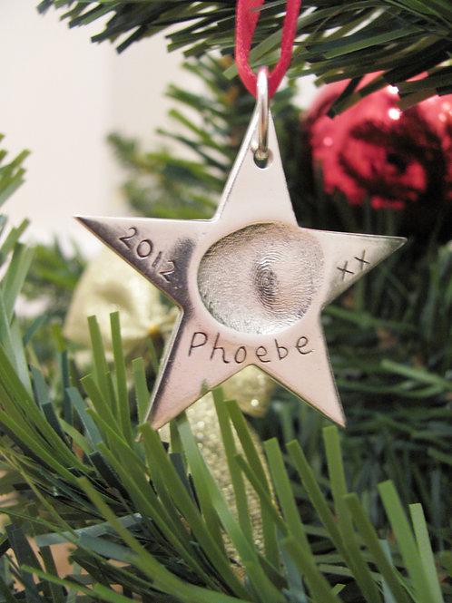 Fingerprint Christmas Star