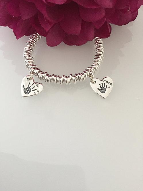 Multiple Handprint Bracelet