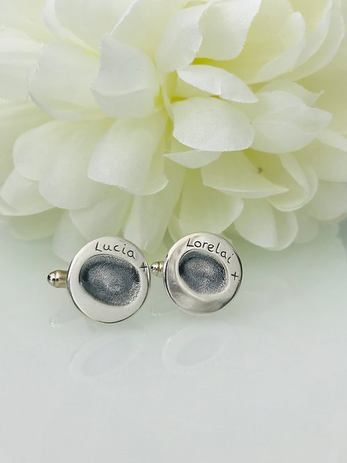 Medium Fingerprint Cufflinks