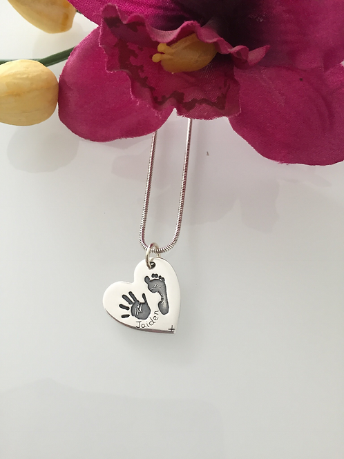 Hand and Footprint Necklace