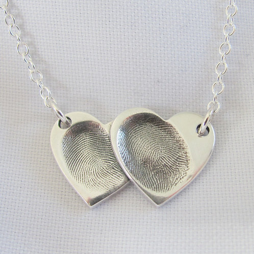 Overlapping Fingerprint Necklace
