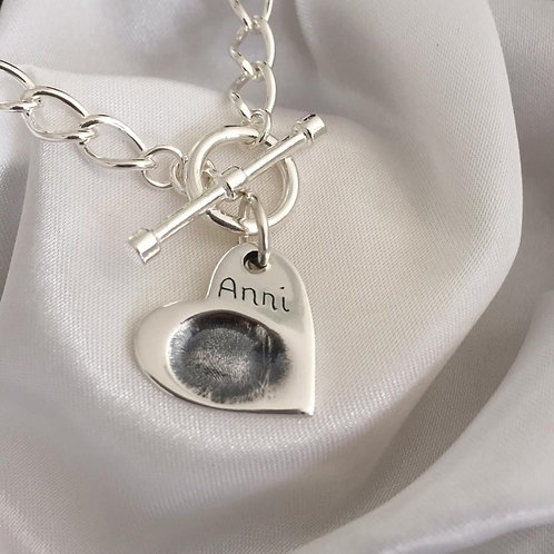 Fingerprint Charm Bracelet