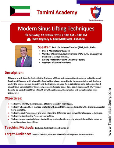 Modern Sinus Lifting Technique - Kuwait