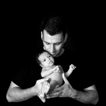 Professional Black and White Newborn Photography Singapore