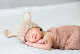 Newborn in hat