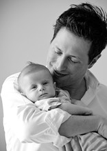 Daddy and Baby Newborn Photo