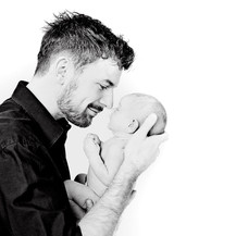 Father with Baby Photo Shoot
