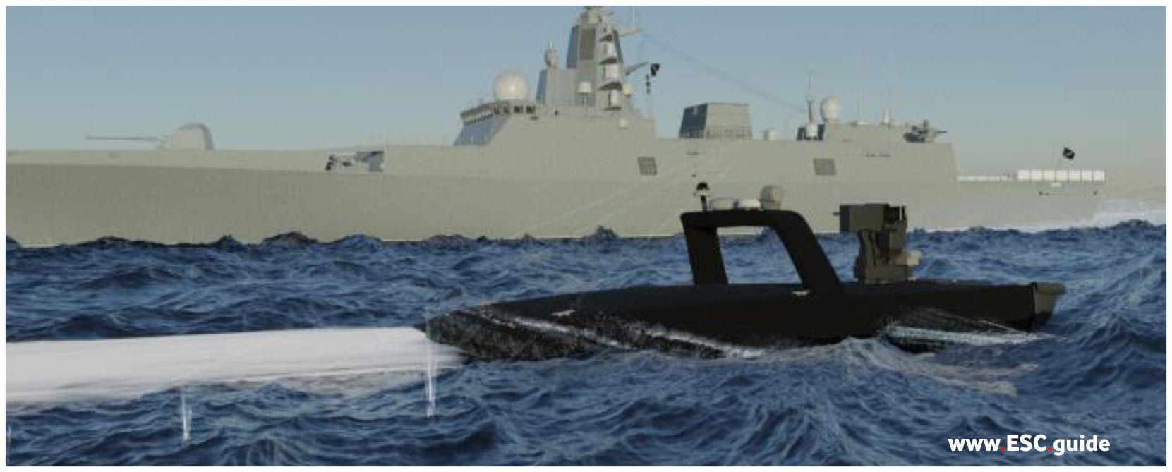 MANTAS T38 harass adversarial vessel.