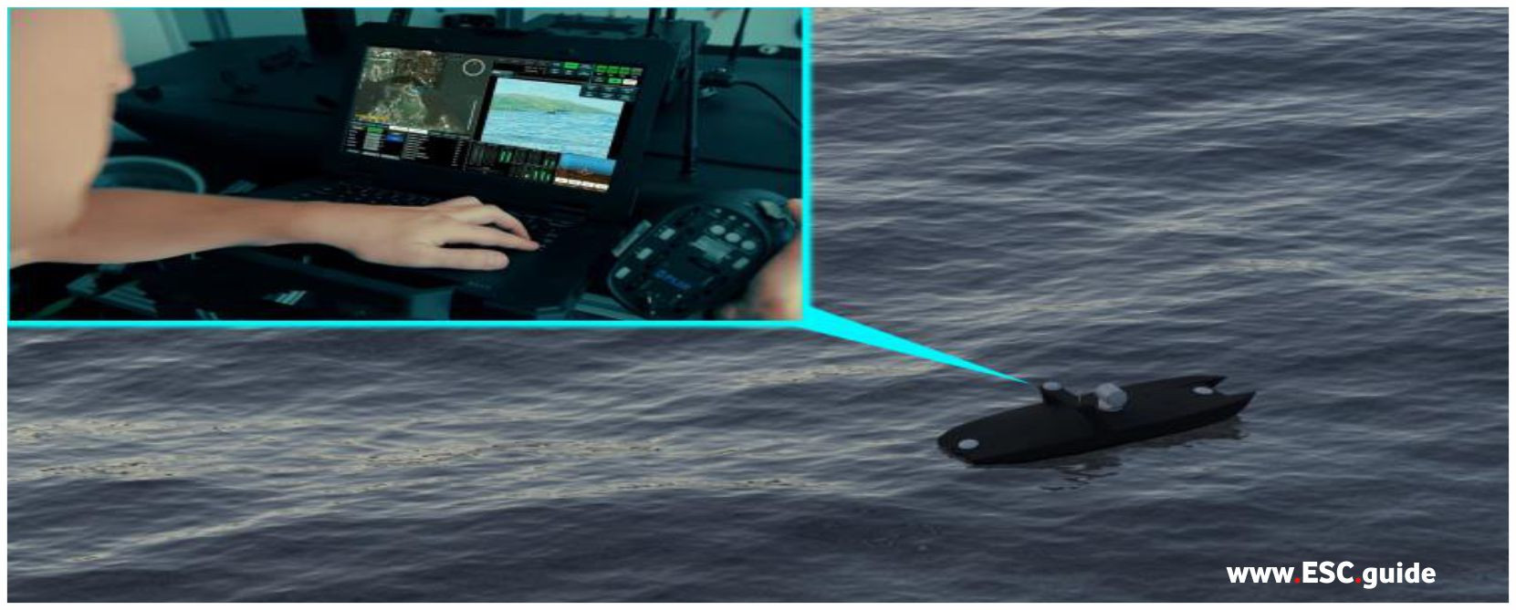 MANTAS T12 ISRs send real-time pictures of shore view to fleet command.