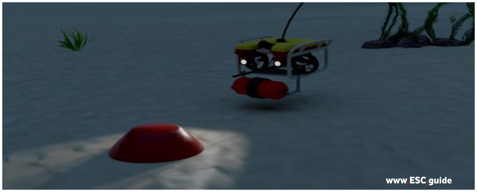 Once identified, launches ROV to set charge. Charge is set.