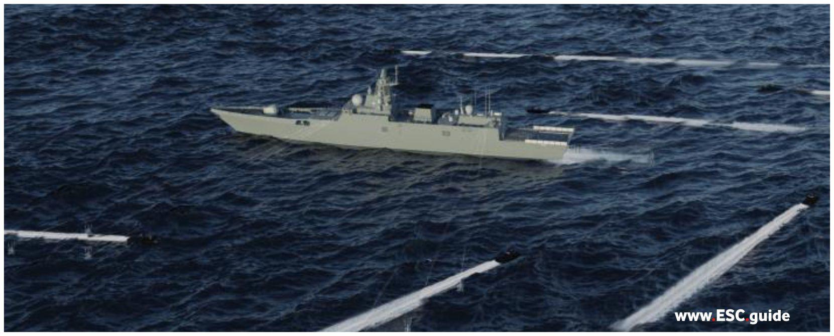 MANTAS T38 surround adversarial vessel.