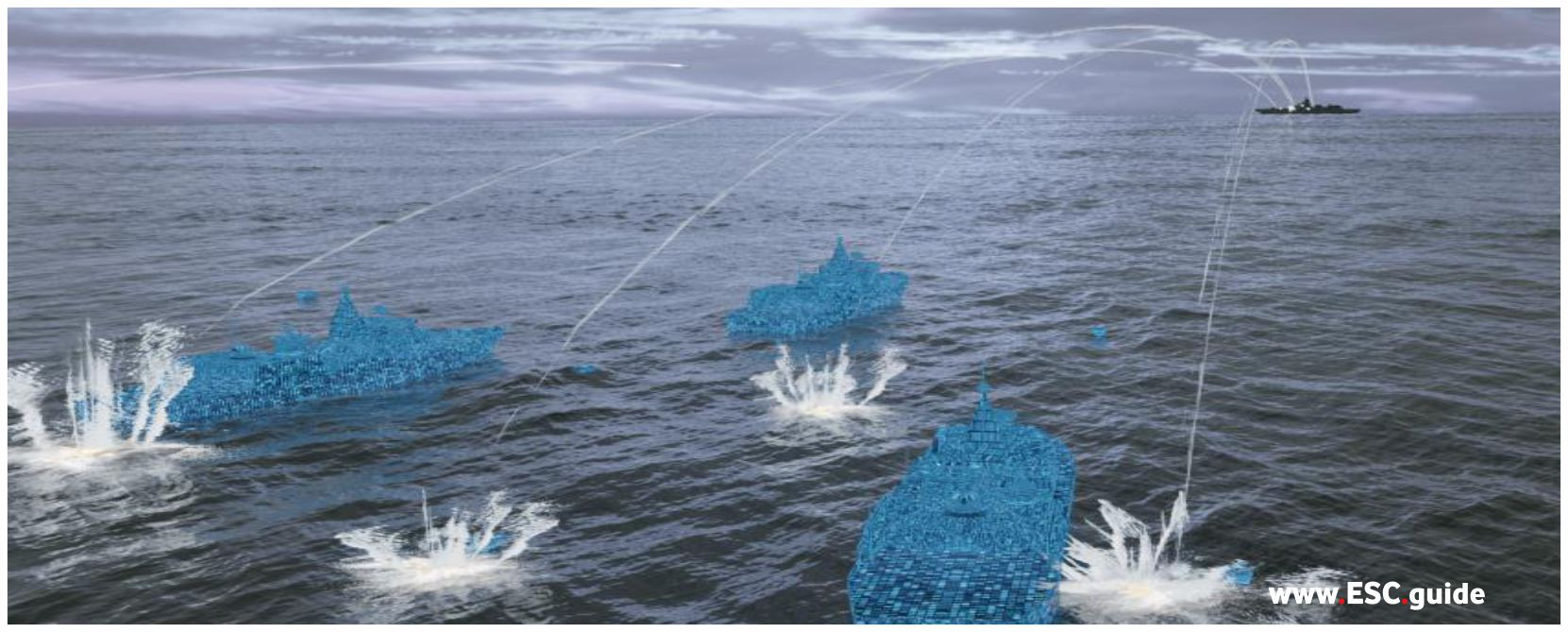 Enemy vessels mistake ghost fleet for actual vessels and fire on it.